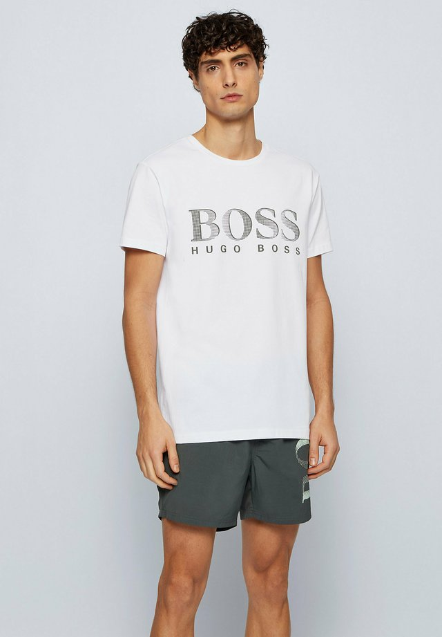 T-shirt con stampa - natural