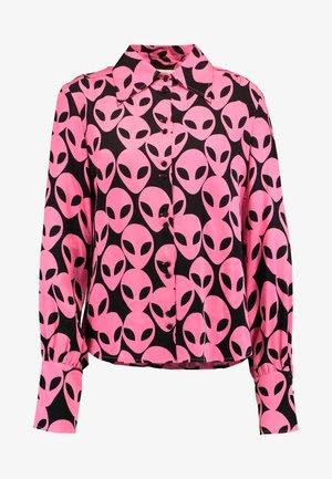 PARIS BLOUSE - Koszula - black/pink