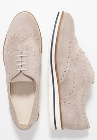 Anna Field - LEATHER - Casual lace-ups - light grey - 3