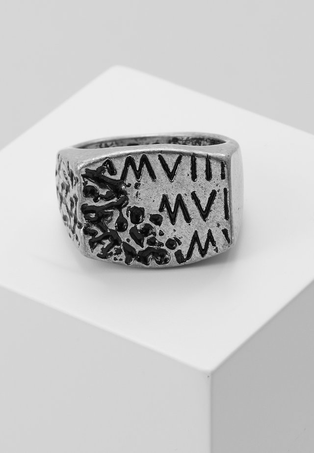 ERODED ROMAN NUMERAL - Ring - silver-coloured