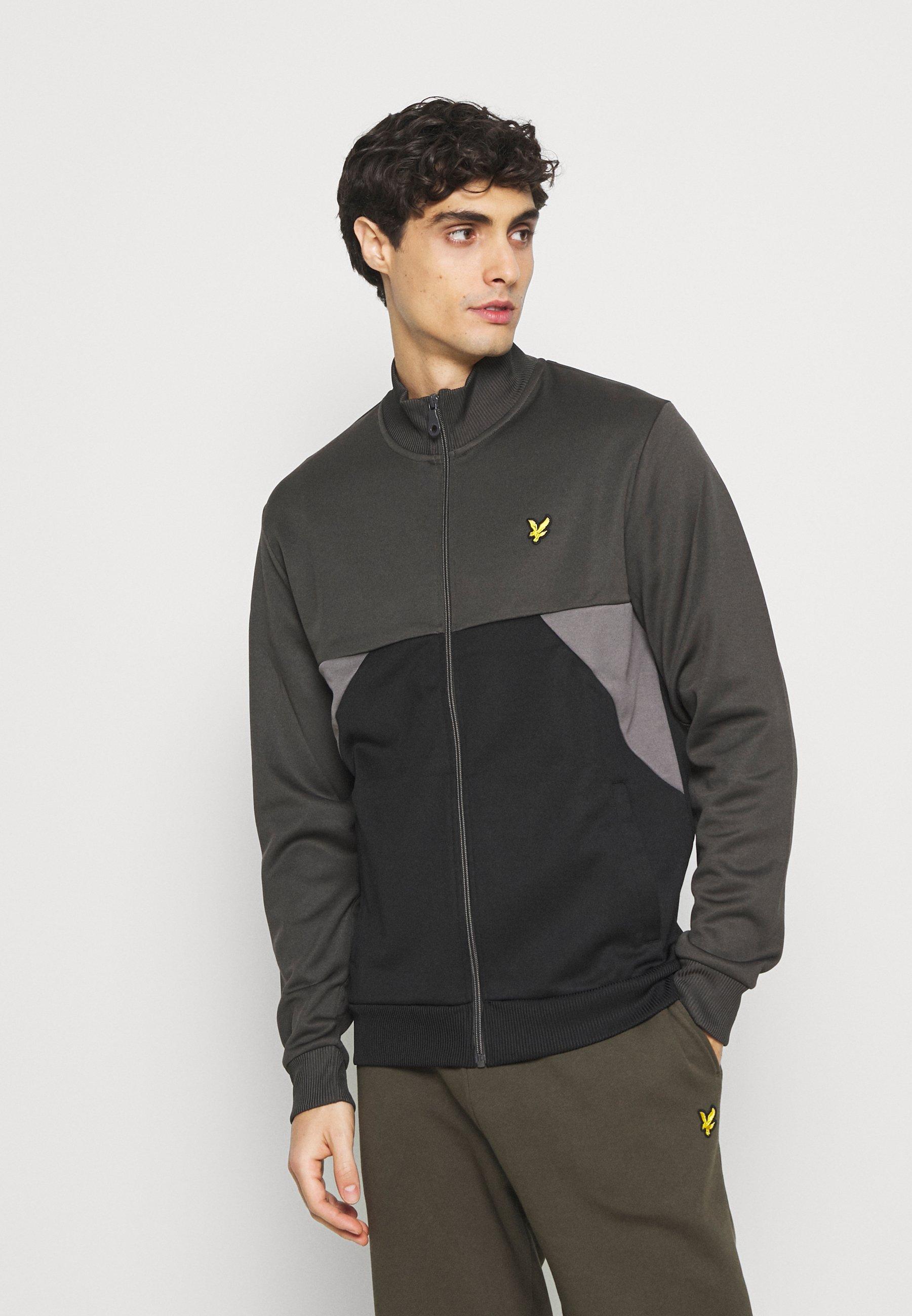 Men TRIO GEO PANEL ZIPTHROUGH - Zip-up sweatshirt