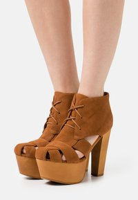 Jeffrey Campbell - FORD - Lace-up ankle boots - tan - 0
