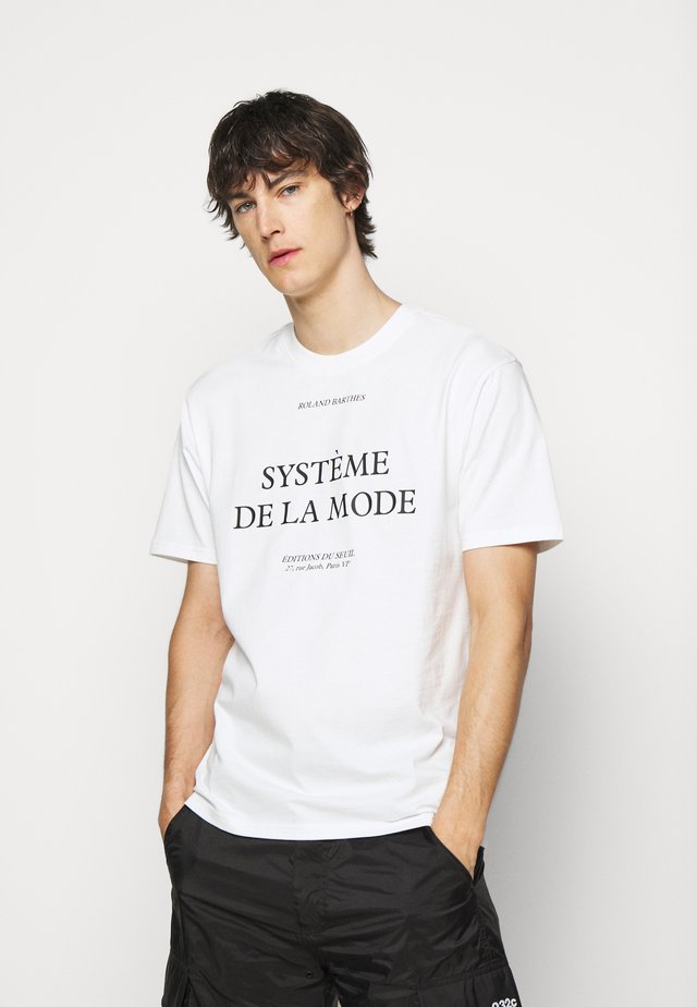 BARTHES - T-shirt con stampa - white