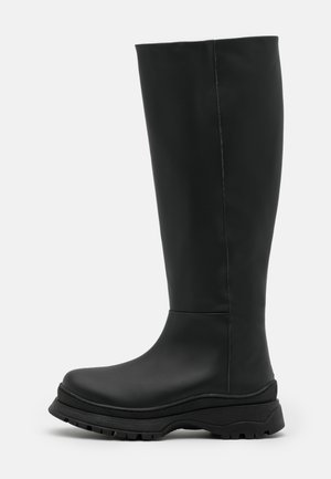 SLFLUCY HIGH SHAFTED BOOT  - Platform boots - black/matte