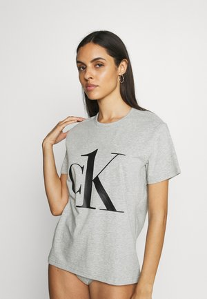 ONE CREW NECK - Pyjama top - grey heather/black