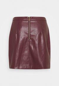 NAF NAF - ESUEDA - Pencil skirt - bourgogne - 1