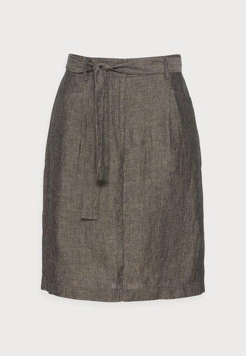 RAILA - A-line skirt - black oliv
