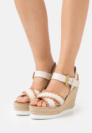 GLYN - Platform sandals - natural