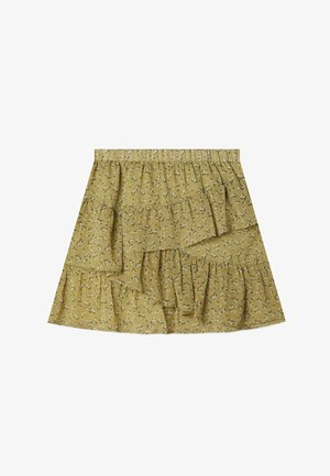 MIT VOLANTS - A-line skirt - light green