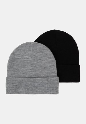 RUBY HAT 2 PACK - Čepice - black/grey