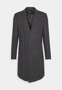 BRUSHED BIRDS EYE - Classic coat - grey