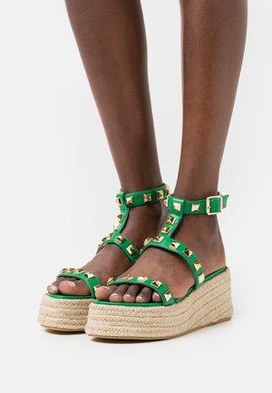 MOXIE - Sandales à plateforme - green