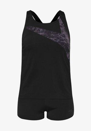 BOOMSTAR SET - Bikiny - black/grey