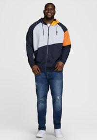 Jack & Jones - Zip-up hoodie - mottled dark blue - 1