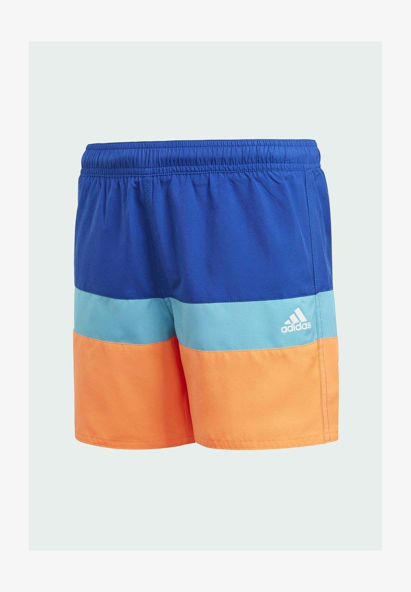adidas Performance - COLORBLOCK SWIM SHORTS - Swimming shorts - blue