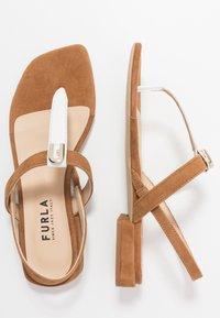 Furla - 1927 THONG - T-bar sandals - cognac/talco - 1