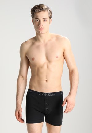 BRIEF BUTTON FLY - Pants - black
