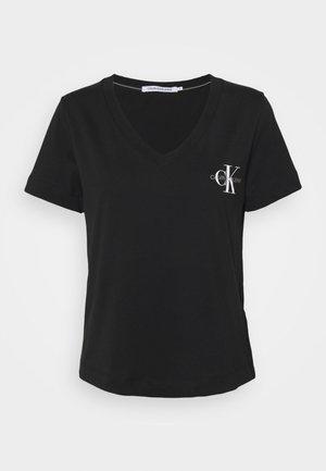 SLIM MONOGRAM - Print T-shirt - black
