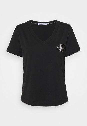 SLIM MONOGRAM - T-shirts med print - black