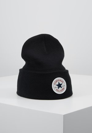 CHUCK PATCH TALL BEANIE - Huer - black
