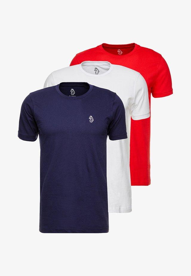 JOHNNYS 3 PACK - T-shirts - navy/white/red