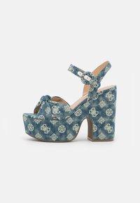 Guess - RION - Platform sandals - denim - 1