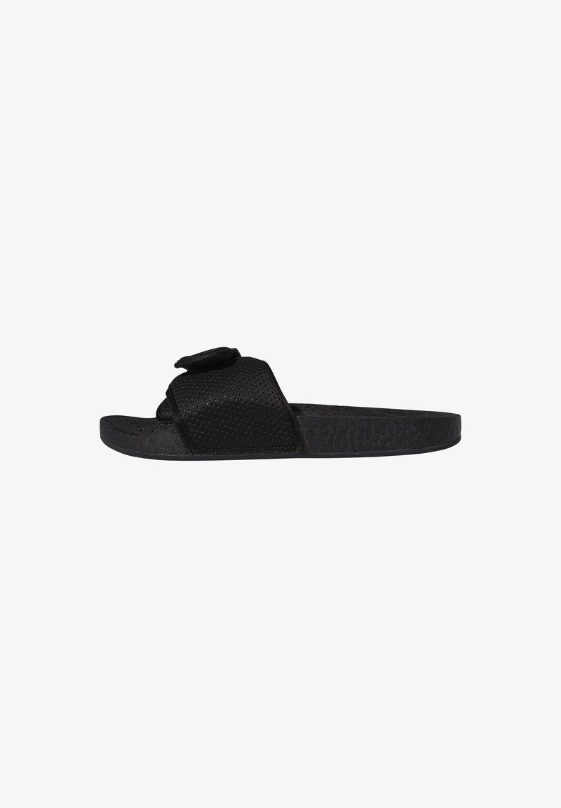 adidas Originals - ADIDAS ORIGINALS  X PHARRELL WILLIAMS BOOST SLIDES - Pool slides - black