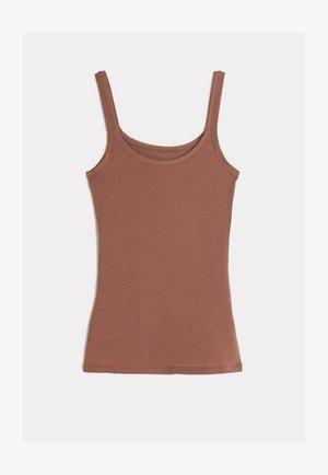 SUPIMA - Pyjama top - hautfarben - 502i - dark beige