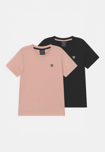 BASICS TEE 2 PACK UNISEX - Basic T-shirt - black/light pink