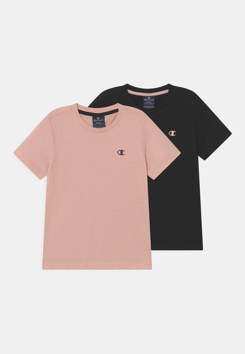 Champion - BASICS TEE 2 PACK UNISEX - T-paita - black/light pink