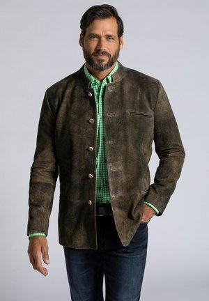 Leather jacket - mahagonibraun