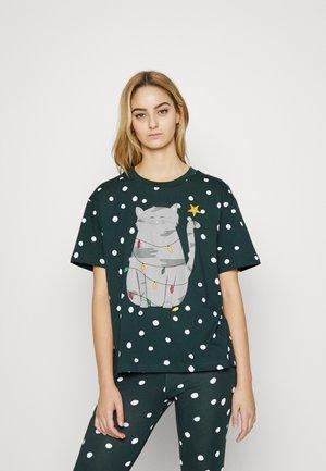 Print T-shirt - green dark
