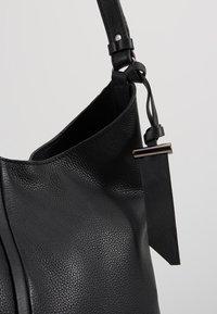 Zign - LEATHER - Handtasche - black - 6