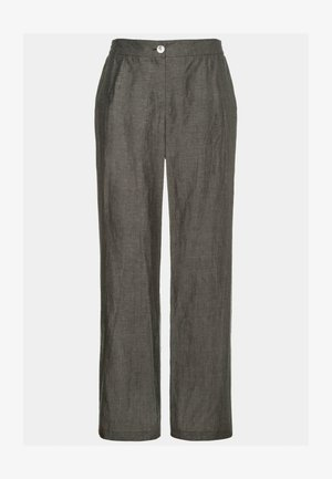 COUPE LARGE, PO - Trousers - gris hiver chiné