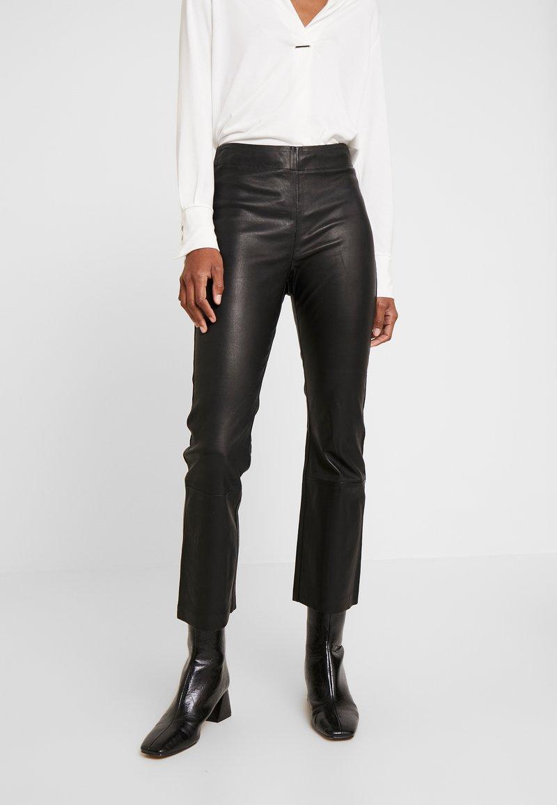 InWear - CEDAR PANT - Leather trousers - black