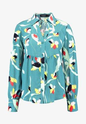 TAIKA - Button-down blouse - teal
