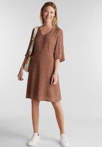 Esprit - LIGHT WOVEN - Day dress - rust brown - 1