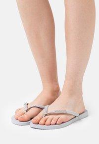 Havaianas - SLIM GLITTER - Pool shoes - ice grey - 0