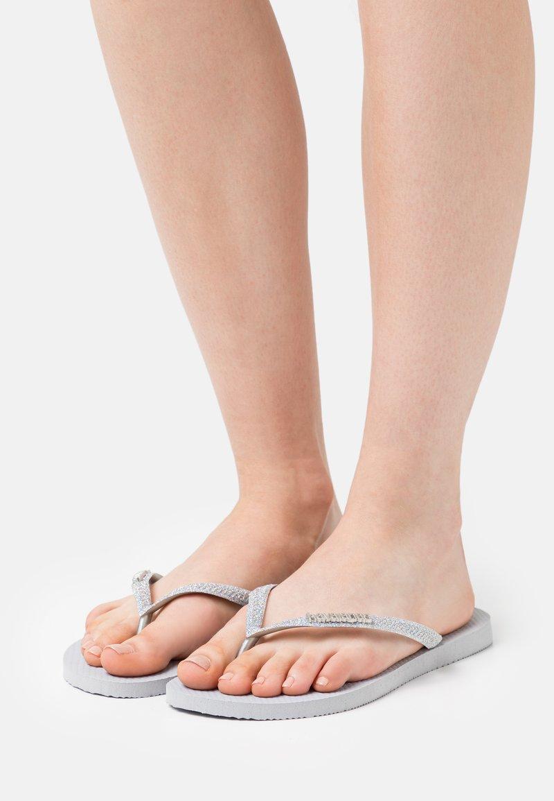 Havaianas - SLIM GLITTER - Pool shoes - ice grey