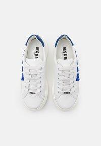 MSGM - UNISEX - Trainers - white/neon blue - 3