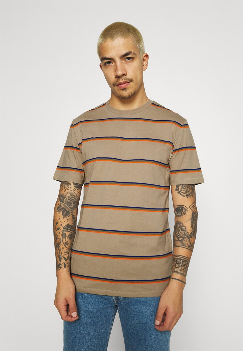 Only & Sons - ONSMARIO LIFE TEE  - T-shirt med print - chinchilla