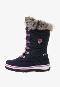 TrollKids - HOLMENKOLLEN UNISEX - Winter boots - navy/magenta - 1