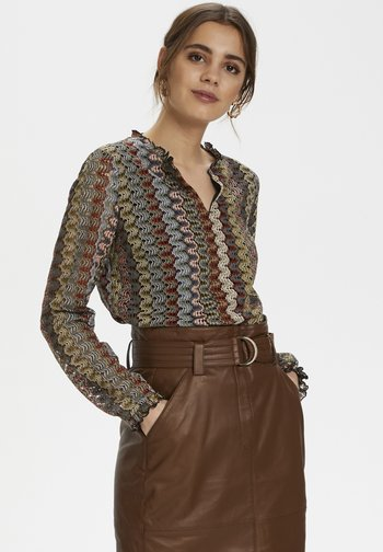Blouse - zigzag ginger bread