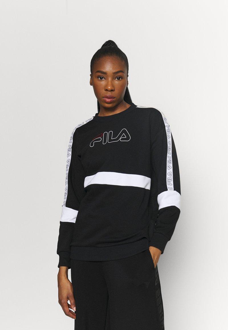 Fila - JACKI TAPED CREW - Sweatshirt - black/bright white