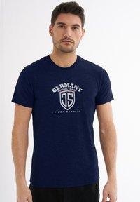 Jimmy Sanders - Print T-shirt - dunkelblau - 0