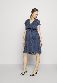 MAMALICIOUS - MLMIVANE TESS DRESS - Cocktail dress / Party dress - blue indigo - 1