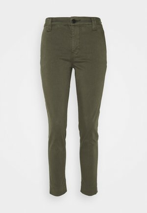 SLIM TAPER MID RISE  - Chino kalhoty - mottled olive