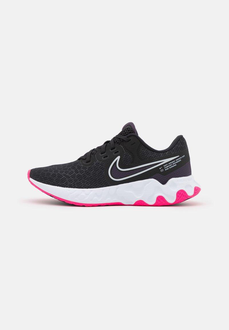 Nike Performance - RENEW RIDE 2 - Neutral running shoes - black/cave purple/hyper pink/grey fog/white