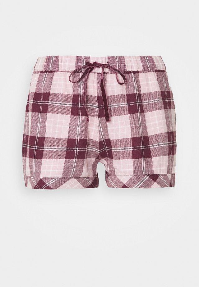 SHORT CHECK - Pyjama bottoms - wine tasting