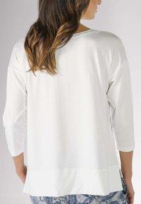 mey - HOMEWEAR SHIRT SERIE NIGHT2DAY - Pyjama top - white - 1